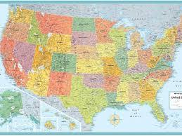 Western Us Map My Blog Western States Wall Map Mapscom Map Usa Laminated Us Map Poster
