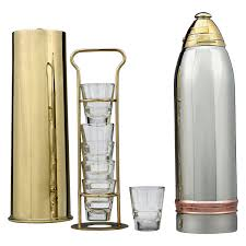 martini shaker drawing artillery shell cocktail shaker by gorham at 1stdibs