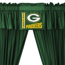 Green Bay Packers Window Curtains Nfl Green Bay Packers Football 5pc Valance Curtains Set