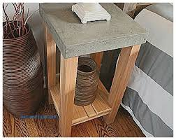 Concrete Table And Benches Storage Benches And Nightstands Elegant Concrete Nightstand