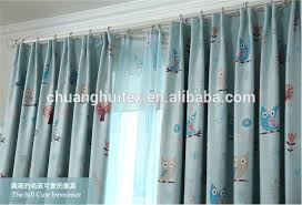 Fancy Drapes Cartoon Owl Printed Design Fancy Curtains And Drapes Best For