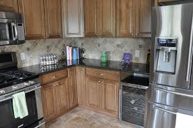 kitchen granite and backsplash ideas bathroom design awesome mocha wooden kitchen cabinet with uba