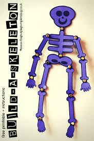 build a skeleton diy decoration free printable and skeletons a cute free printable to build a skeleton just print onto card and