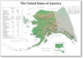 Map Of Alaska And Usa by The United States Of America From Alaska U0027s Point Of View
