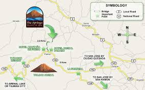 san jose airport on map maps and directions the springs resort spa arenal costa rica