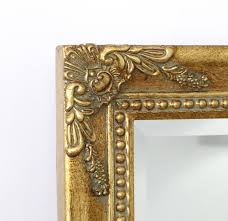 shabby chic gold triple dressing table mirror isabella 35 x 24