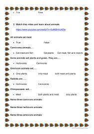 animals video watching worksheet free esl printable worksheets
