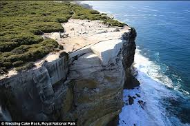 wedding cake rock parking wedding cake rock in nsw could collapse into the sea at any moment