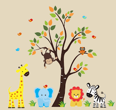 popular items for tree monkey on etsy safari nursery jungle wall jungle wall decals theme baby room nursery image of for kids design a baby room