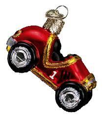 world ornaments race car 44019