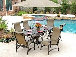 Aluminum Patio Dining Set Patio Furniture Carlsbad Stylish Aluminum Outdoor Dining Set Sling