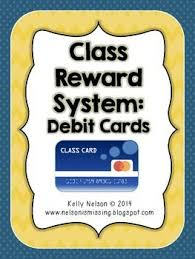 debit cards for kids classroom reward system debit cards for kids freebie behavior