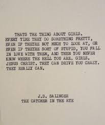 the catcher in the rye j d salinger quote poster select a