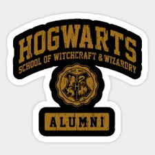 hogwarts alumni sticker hogwarts stickers teepublic