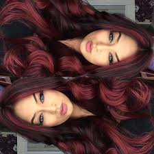 mahogany red hair with high lights best 25 black hair red highlights ideas on pinterest red black