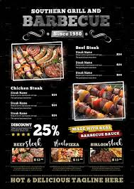 grill barbecue restaurant menu template by adimasen graphicriver