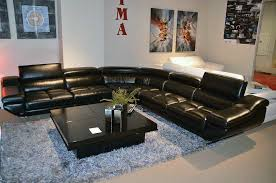 Black Sectional Sofa Bed by Vg 77 Black Leather Sectional Sofa Leather Sectionals