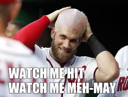 How To Say Meme - bryce harper might be an mvp but he has no idea how to say meme