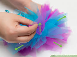 tulle pom poms how to make tulle pom poms with pictures wikihow