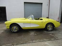 corvette project cars 1959 corvette project car automatic power top resto mod