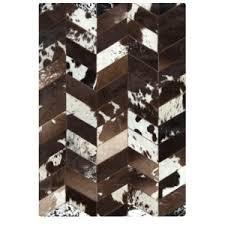 Cowhide Area Rugs Modern Cowhide Area Rug 5009 Black Dark Brown Taupe Sobe Furniture