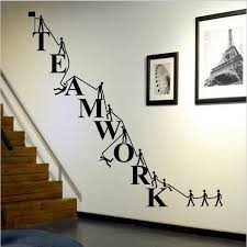 w321 cooperate teamwork wall stickers home decor wall decals for