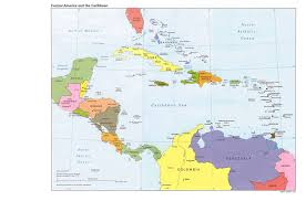 carribbean map central america and the caribbean political map 1995 size
