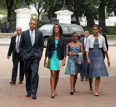 Seeking Obama Photos Obama Family Attends Church In Matching Monochromatic
