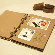 photo albums with sticky pages a4 retro kraft paper album diy 4 ring wire binding sticky type