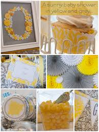 yellow and gray baby shower a baby shower in yellow and gray press print party