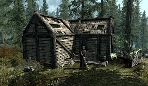 small cabin in the woods anise u0027s cabin elder scrolls fandom powered by wikia