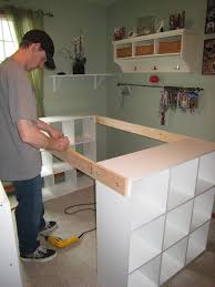Diy Craft Desk With Storage It Yourself White Craft Desk