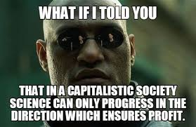 Profit Meme - that in a capitalistic society science can only progress in the