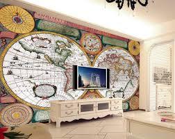 photo customize size 3d wallpaepr european style sailing world map