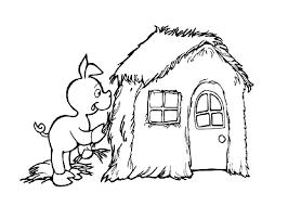 pigs house coloring pages coloring pages wallpaper