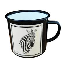 mug sketch zebra head black print
