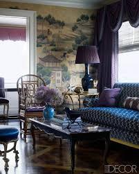 Living Room Wallpaper Scenery Every Last Detail Alex Papachristidis U0027s Nyc Apartment Iris