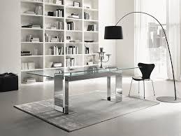 Modern Office Desks Furniture 6 Nice L Shape Frosted Glass Office Desk For Modern