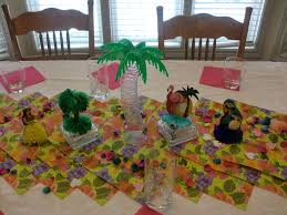 luau table centerpieces interior design creative luau themed party decorations room
