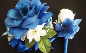 royal blue corsage and boutonniere blue gardenia corsage gardening flower and vegetables