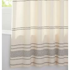 Shower Curtains Ivory Black Woven Striped Shower Curtain Rejuvenation