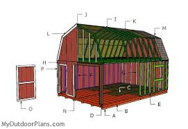 16x24 gambrel shed plans myoutdoorplans free woodworking plans