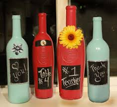 wine christmas gifts decorative painted wine bottle allfreechristmascrafts