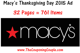 walgreens open thanksgiving day macys thanksgiving day 2015 sale ad 32 pages u003d 761 items