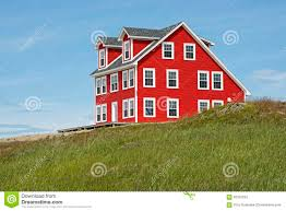 saltbox style home house on a hill in newfoundland stock photo image 60350233