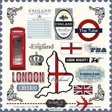 12x12 Scrapbook Scrapbook Customs England Sightseeing Stickers