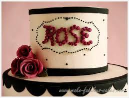 a rose y 50th birthday cake
