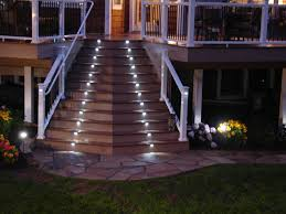 Exterior Led Landscape Lighting by Elegant Outdoor Round Stairs With Wood And Stucco Google Search