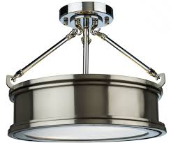 artcraft sc13042bn eastwick modern brushed chrome flush ceiling light fixture loading zoom