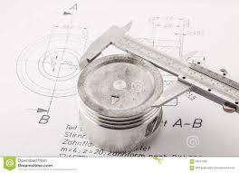 vernier caliper measure piston stock photo image 58321095